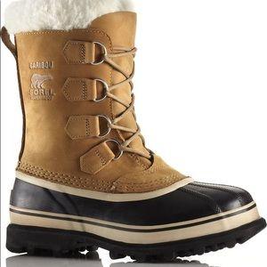 SOREL Caribou waterproof boots size 7 Buff